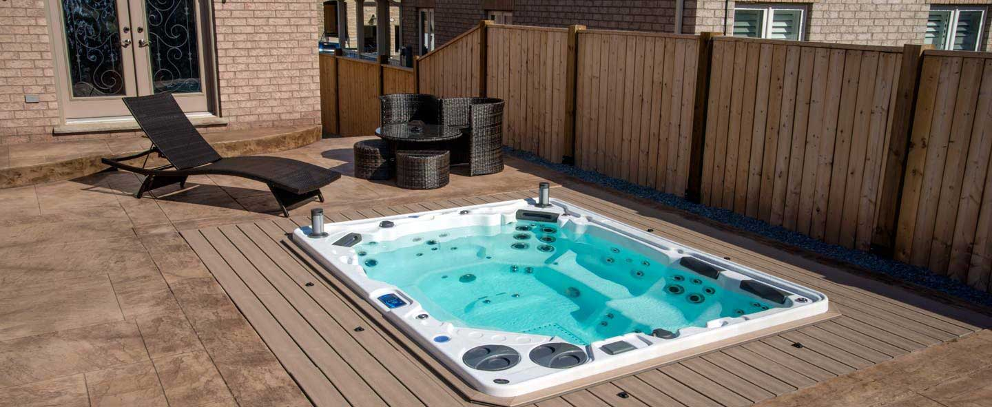Spa et jacuzzi psb tradition 44 - Spa de nage encastrable ...